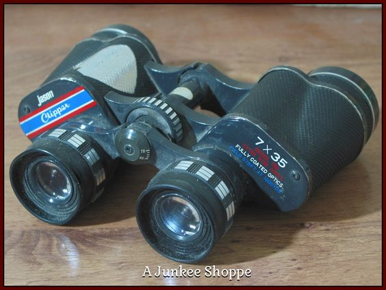 JASON EMPIRE CLIPPER Model 7 x 35 Antique Early 1960's Binoculars Used    Junk0911  http://ajunkeeshoppe.blogspot.com/