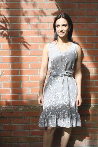 Lotfi Flock Dress