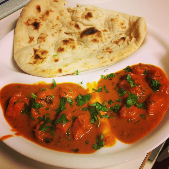Butter chicken with Naan...yummy