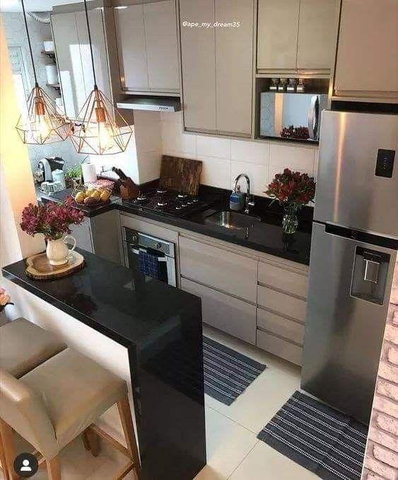 Kitchen Cocina Pequena Deco Decoracion En 2020 Cocinas De Casas Pequenas Diseno De Interiores De Cocina Diseno Muebles De Cocina