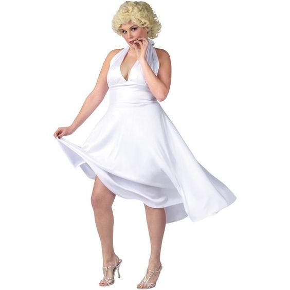 Marilyn Monroe Deluxe Classic Adult Plus Costume ($40) ❤ liked on Polyvore featuring costumes, halloween costumes, marilyn monroe halloween costume, captain america womens costume, party america costumes, marilyn monroe costume and ladies halloween costumes