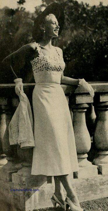 Dress by Debbie Hunt 1952.