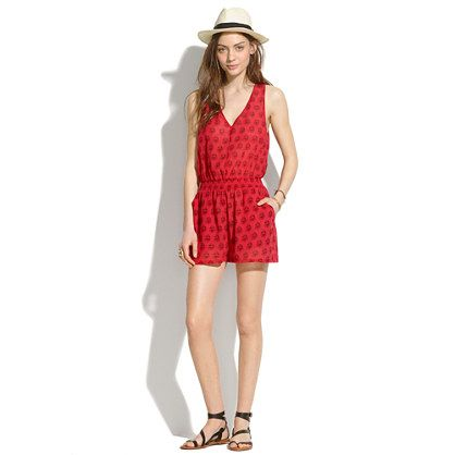 Beachcomber Tie-Back Romper in Redleaf Paisley - swim cover-ups - Women's SWIM & COVER-UPS - Madewell