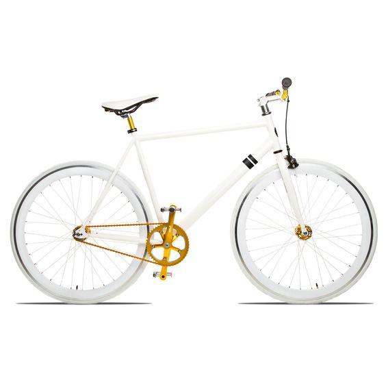 White / Gold Bike