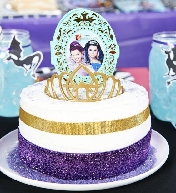 Disney Descendants Apple Cake Topper