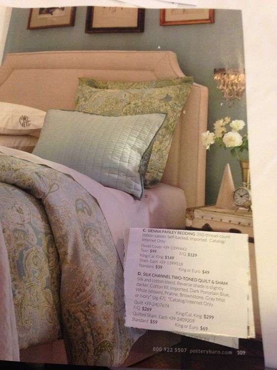 Pottery Barn Bedding Sienna Paisley For The Home