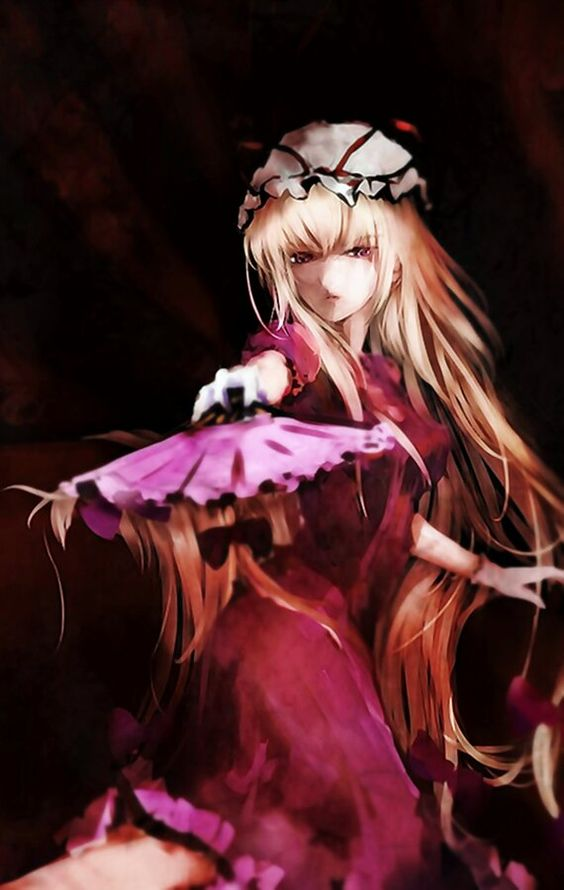 Yukari and her folding fan. By dyolf.