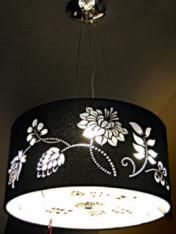Black Floral Cut Out Pendant - Wholesale, Restaurants, Hotel Industry Lighting