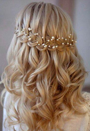 Flower girl hair and Communion