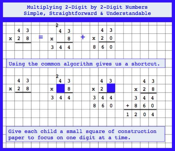 Multiplying Two Two Digit Numbers 4 Nbt B 5