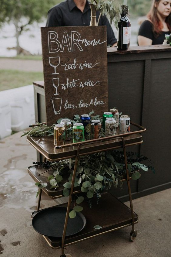 Creative Wedding Bar Signs to Style Your Cocktail Decor, 08d543dc31ef9a84051180d3ec7386bf