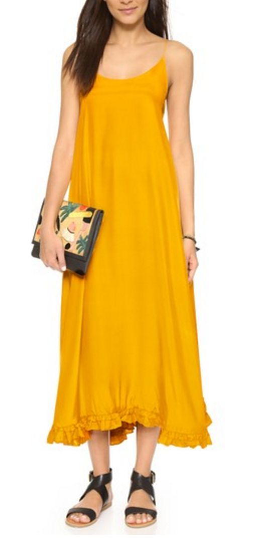 Canary Silk Maxi Dress