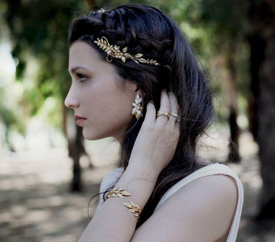 Zarte Blume Krone griechische Göttin Stirnband 3 von avigailadam