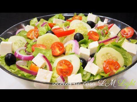 Cocina Conmigo Youtube Ensalada Facil Griega Light Rapida Receta Recetas De Ensaladas Lechuga Facil Y Saludable Rica Saludabl Food Fruit Salad Salad