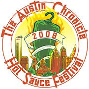 Austin Chronicle Hot Sauce Festival...eating hot sauce on a 100 degree day!