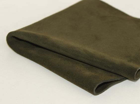 Army Green Suede, Genuine Leather, by JLLeatherSupplies on Etsy