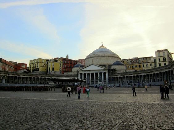 Piazza del Plebescito in Naples, Italy - inspired by the Pantheon!  from http://www.nonstopfromjfk.com/exploring-naples-italy/