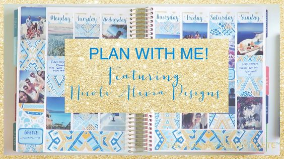 Hi! So I decided to do this spread regardless! I used my planner that I do mock…