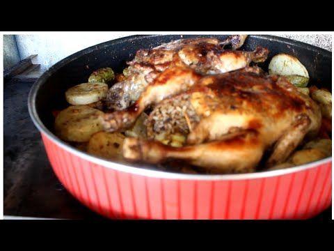 اطيب اكله الدجاج المحشي والارز بالخضار Stuffed Chicken And Rice With Vegetables Youtube Food Chicken