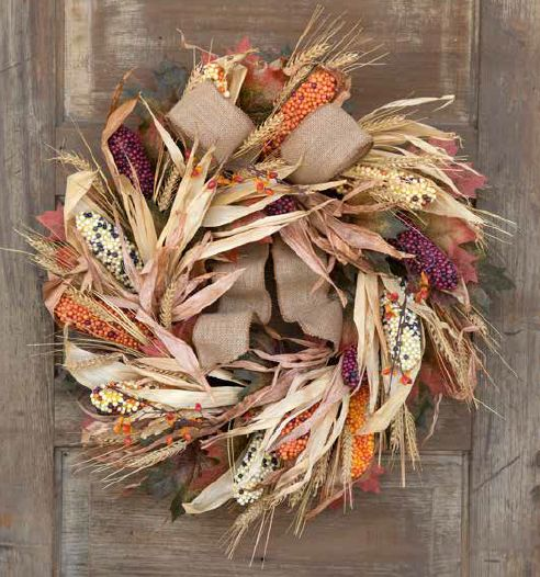 UrbanMarketPl.com - Heritage Indian Corn Wreath, $108.95 (http://urbanmarketpl.com/products/heritage-indian-corn-wreath.html)
