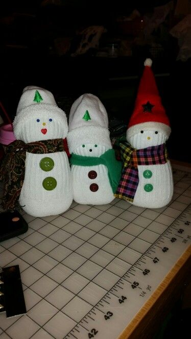 My sister Sharon's snowmen ♡