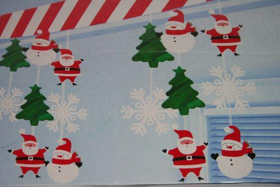 Natale decorazione soffitto : Decorazione da appendere a soffitto, Cielino lungo 3,04 mt, a scendere ...