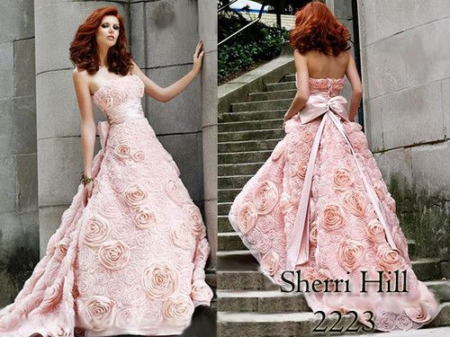 Sherri Hill 2223 Light Pink Rose Ball Gown in Tulle/Lace Sz 4 New ...