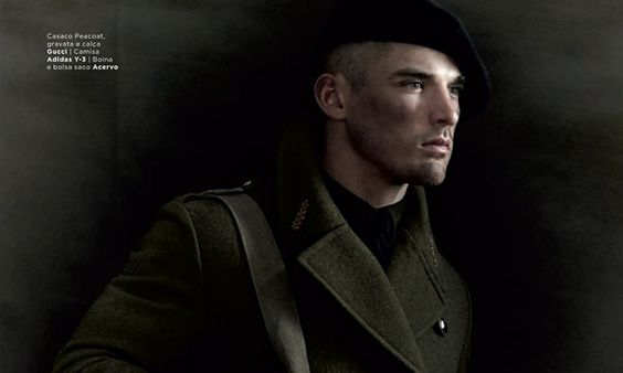 Kerry Degman + Silvester Ruck Embrace Military-Inspired Fashions for GQ Style Brazil