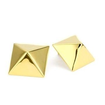 Pyramid Earrings via Obaz