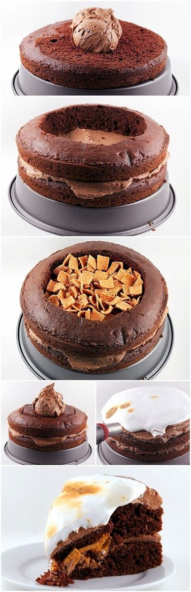 How To S'more Cake