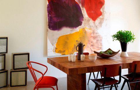 Decorar con arte #comedor #cuadros #colores