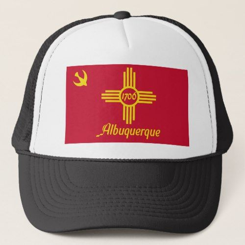 Albuquerque New Mexico United States Flag Trucker Hat Zazzle Com United States Flag New Mexico State Flag Trucker Hat