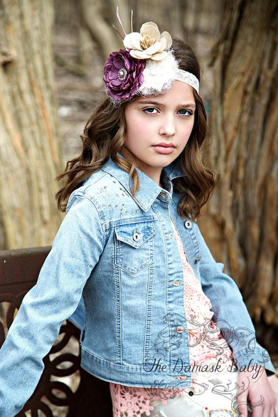 Flower Child Lace Headband available at www.thedamaskbaby.com.