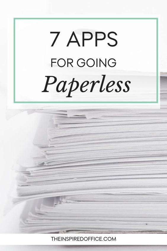 These seven apps will help you declutter and eliminate paper. Click to see which ones I recommend.