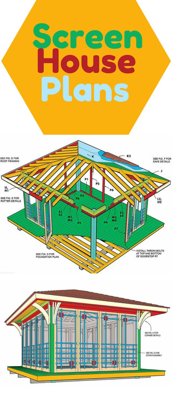 Screen House Plans Gardens Trailers And Summer
