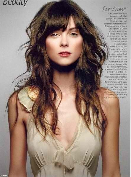 Cute Hairstyles For Curly Hair With Side Bangs : Wavy hairstyles with bangs long