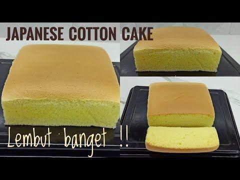 Resep Japanese Cotton Cake Super Lembut Youtube Kue Lezat Kue Resep Kue