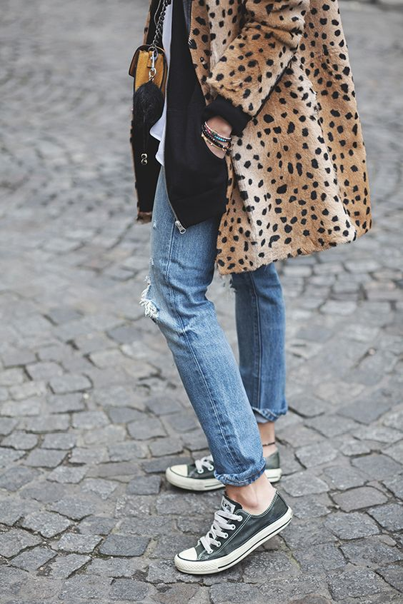 converse, cheetah coat