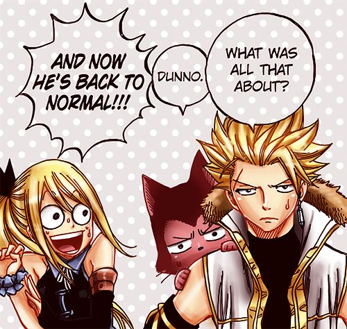 Fairy Tail... I have no idea why Lucy gets surprised by anything anymore.