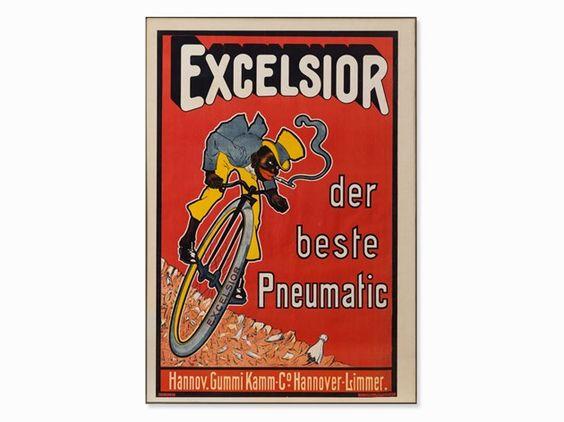 "Werbeplakat ""Excelsior – der beste Pneumatic"", um 1900"
