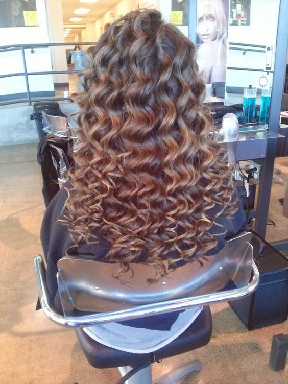 The curls I did at school!!!! ❤❤❤hair is life!!