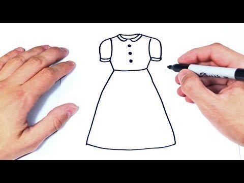 Como Dibujar Un Vestido Paso A Paso Dibujo De Vestido De Mujer Youtube Como Dibujar Vestidos Como Dibujar Dibujo Paso A Paso