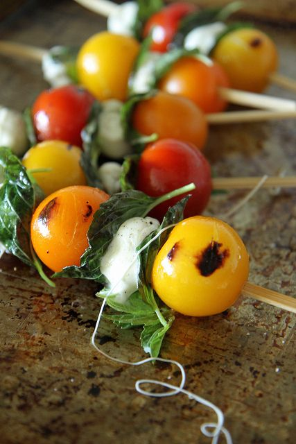 Grilled Caprese Kebabs by Heather Christo