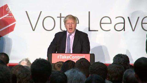 Channel 4's Michael Crick interrupted on live TV during Boris Johnson speech