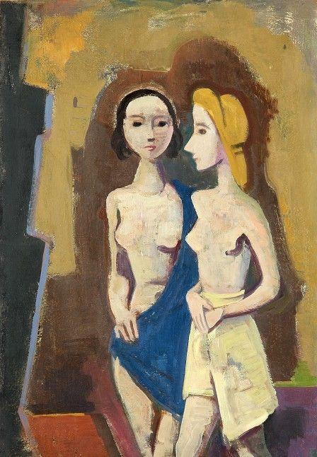 Karl Hofer - Zwei Mädchen