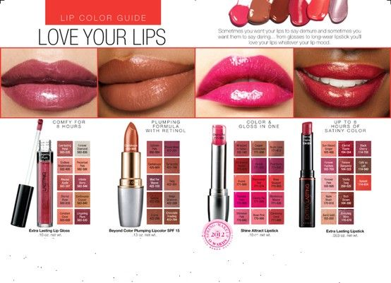 Lip Color Guide         Order today @  http://www.youravon.com/tmuriel