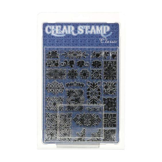 Clear- Stempel - Set Ornamente - stempel-fabrik.de
