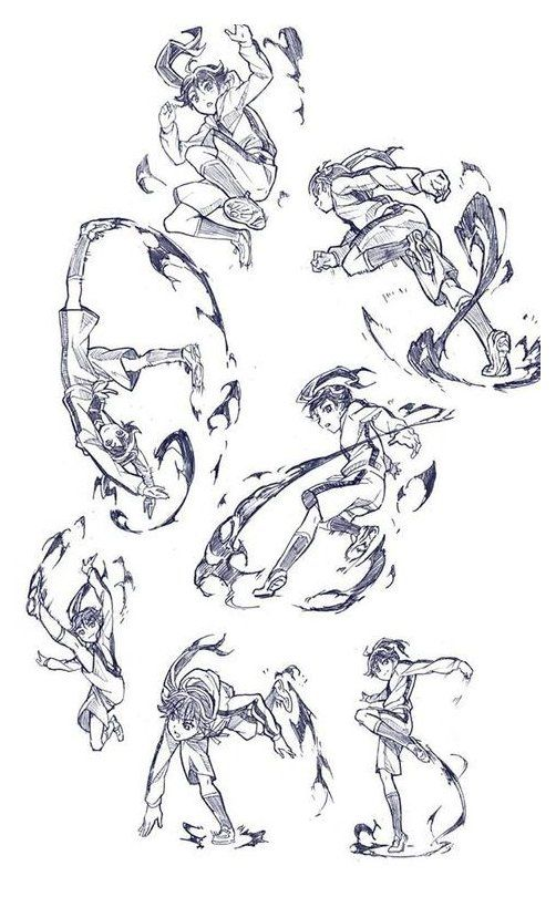 How To Draw Anime Fighting Pose For Girl With Clos How To Draw Anime Fighting Pose For Girl With Clos In 2020 Art Reference Poses Sketch Poses Action Pose Reference