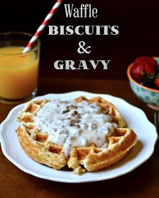 Waffle Biscuits and Gravy - This was a great idea for making biscuits instead of using the oven in the summer heat. I made my own gravy so can't speak to get recipe.