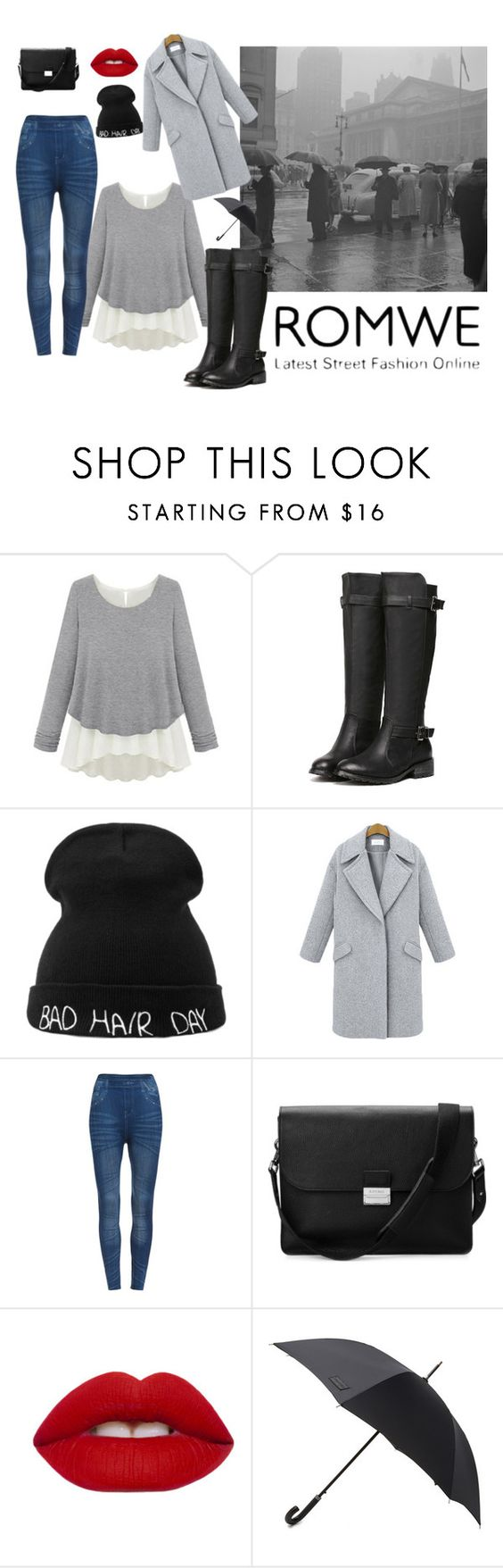 """""""rainy days are coming,let's say hello"""" by nylover-998 ❤ liked on Polyvore featuring Aspinal of London, Lime Crime and Hunter"""